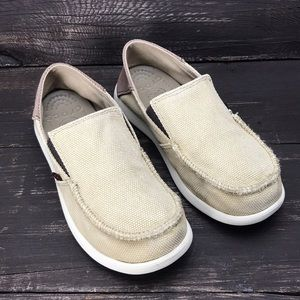 Crocs Santa Cruz Canvas Sneakers Size 2